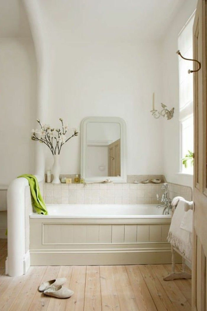 meuble salle de bain bambou pas cher, sol en planchers clairs en ...