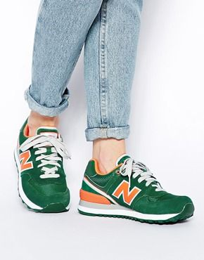 New Balance Verte Et Orange