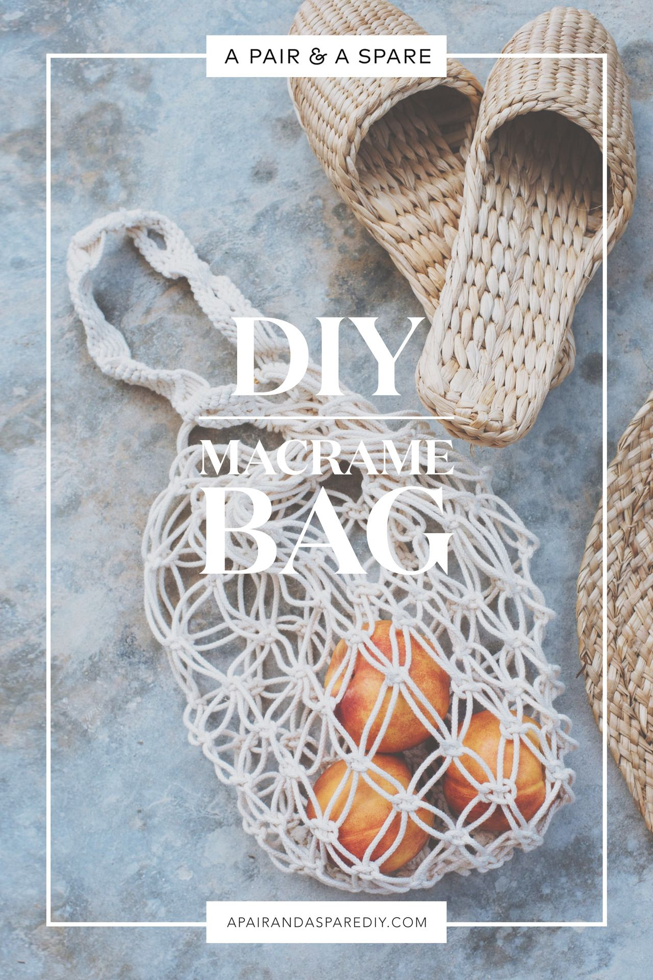 DIY Macramé Bag (Our Second Version!) | Crafty things | Pinterest ...