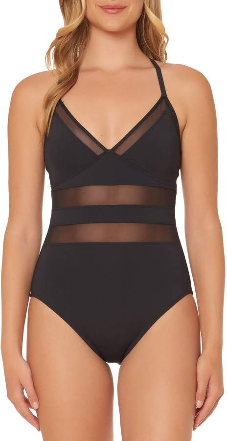 af6ad1ddf0946 BLEU by Rod Beattie Mesh Inset One-Piece Swimsuit in 2019 | Products ...