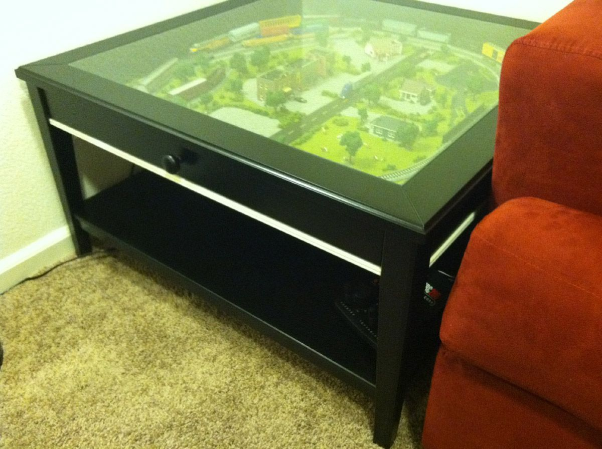 Glass Top Display Coffee Table Ikea Modern Affordable Furniture Check More At Http Www Nikkitsfun Com Glas Ikea Coffee Table Coffee Table Model Train Table