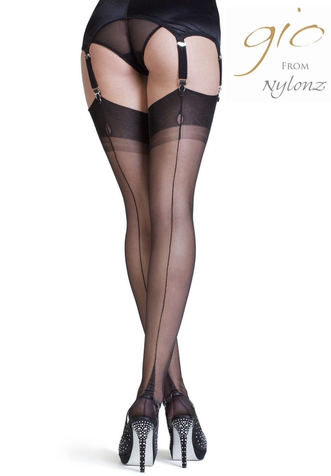 Fully Fashioned Stockings Point Heel H2033 | Fully