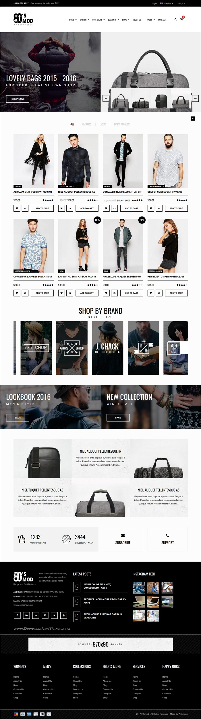 80\'s Mod is a vintage styled 6in1 responsive WooCommerce #WordPress ...
