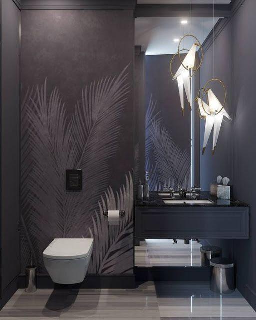 Wallpaper In Bathroom And Toilet Diseno De Interiores De Bano