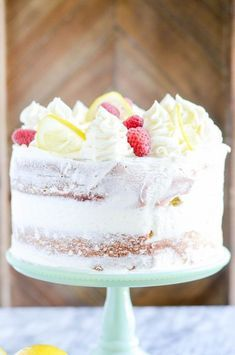 A Rich Lemon Cake That Tastes Incredible With Cream Cheese Frosting And Your Favorite Berries