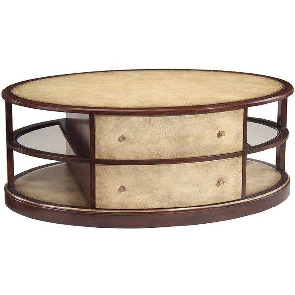 John Richard Ellipse Cocktail Table Liked On Polyvore - John richard coffee table