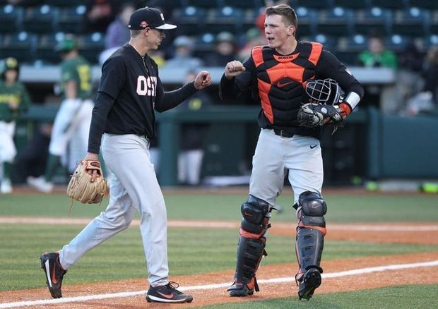 Adley Rutschman Developing Into Two Way Force Oregon State Beavers Oregon State Athlete