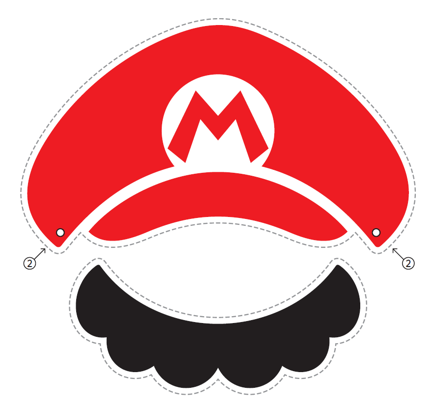 Nintendo Releases Official Mario X2f Luigi Paper Hats Mustaches Super Mario Bros Party Mario Bros Party Super Mario Bros Birthday Party