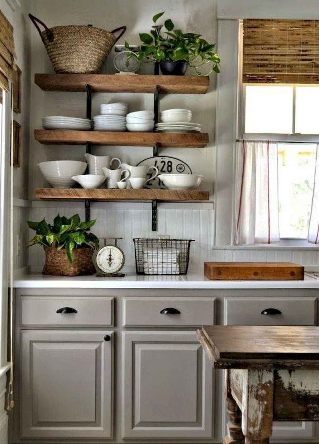 90 Rustic Kitchen Cabinets Farmhouse Style Ideas (74 - Kitchen remodel small, Budget kitchen remodel, Rustic kitchen, Rustic kitchen cabinets, Farmhouse kitchen decor, Kitchen trends - 90 Rustic Kitchen Cabinets Farmhouse Style Ideas (74)