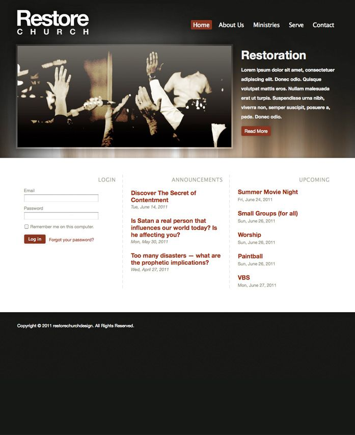 FREE Modern Black Gold Glow Style Website Template by ...