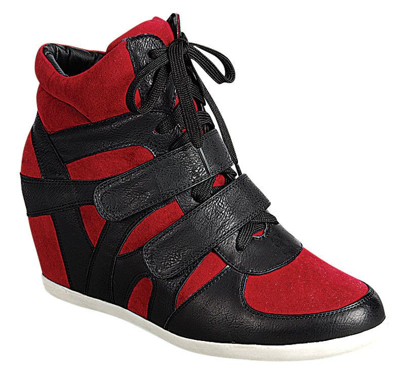 92576571dcc Women Fashion Wedge Lace and two Buckle Sneaker - Beata-05  Reneeze   WedgeSneaker