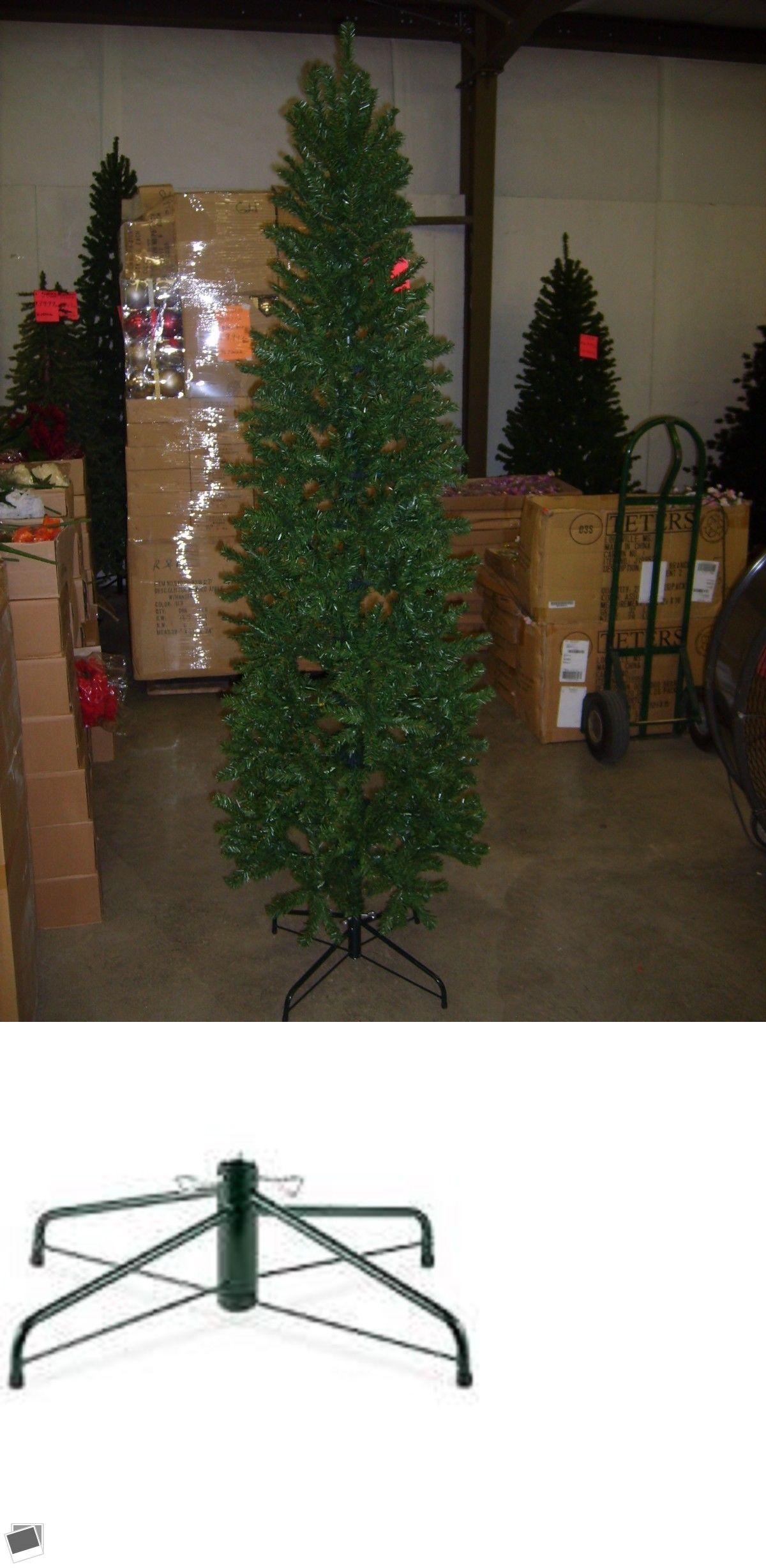 Artificial christmas trees foot pencil slim pine green