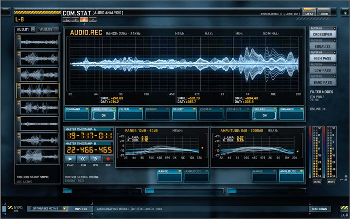 Production and post production screen graphics. Screen Design Interactive Playback Looping Elements