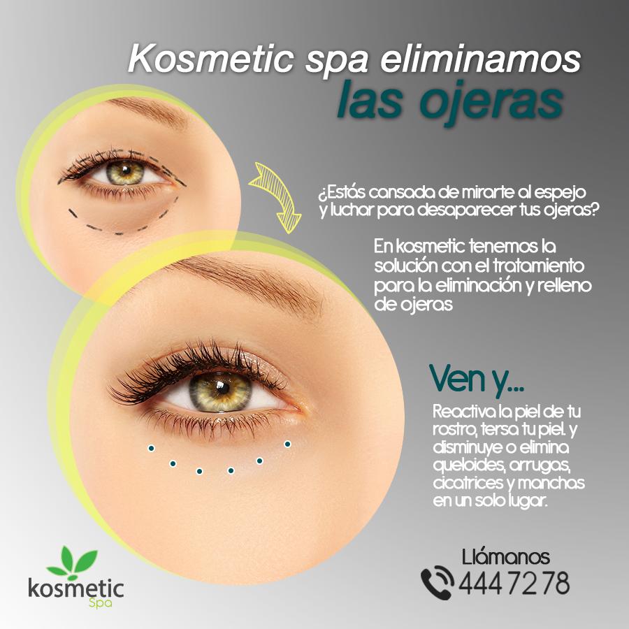 Dale a la piel de tu rostro el cuidado que necesita. En Kosmetic spa te ayudamos a reducir las ojeras y líneas de expresión.  Llámanos 444 72 78
