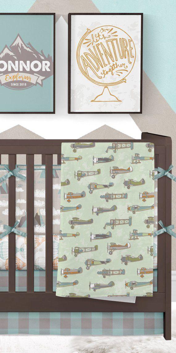 Baby Boy Room Themes Travel: Adventure Nursery, Boy Crib Bedding, Baby Boy Nursery
