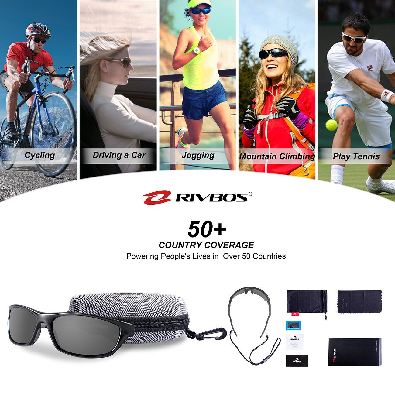 47c34d2105 Men Golf Clothing     RIVBOS Polarized Sports Sunglasses Driving Sun ...