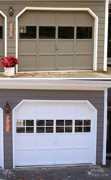Adding Grilles To Garage Door Windows Garage Door Colors Garage Doors Garage Door Windows
