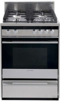 Fisher Paykel Or24sdmbgx2 24 Inch Pro Style Gas Range With 1 9 Cu Ft Cooking Appliances Gas Range Gas Range Review