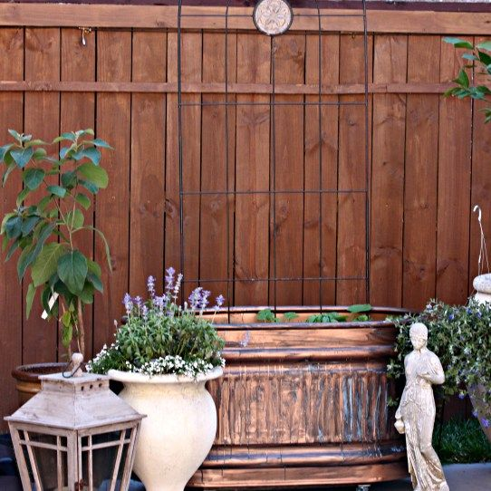Diy Aged Copper Container Garden Using Horse Troughs Metal