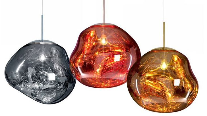 Tom dixon launches hallucinogenic melt lamps at milan design week glass lights mozeypictures Image collections