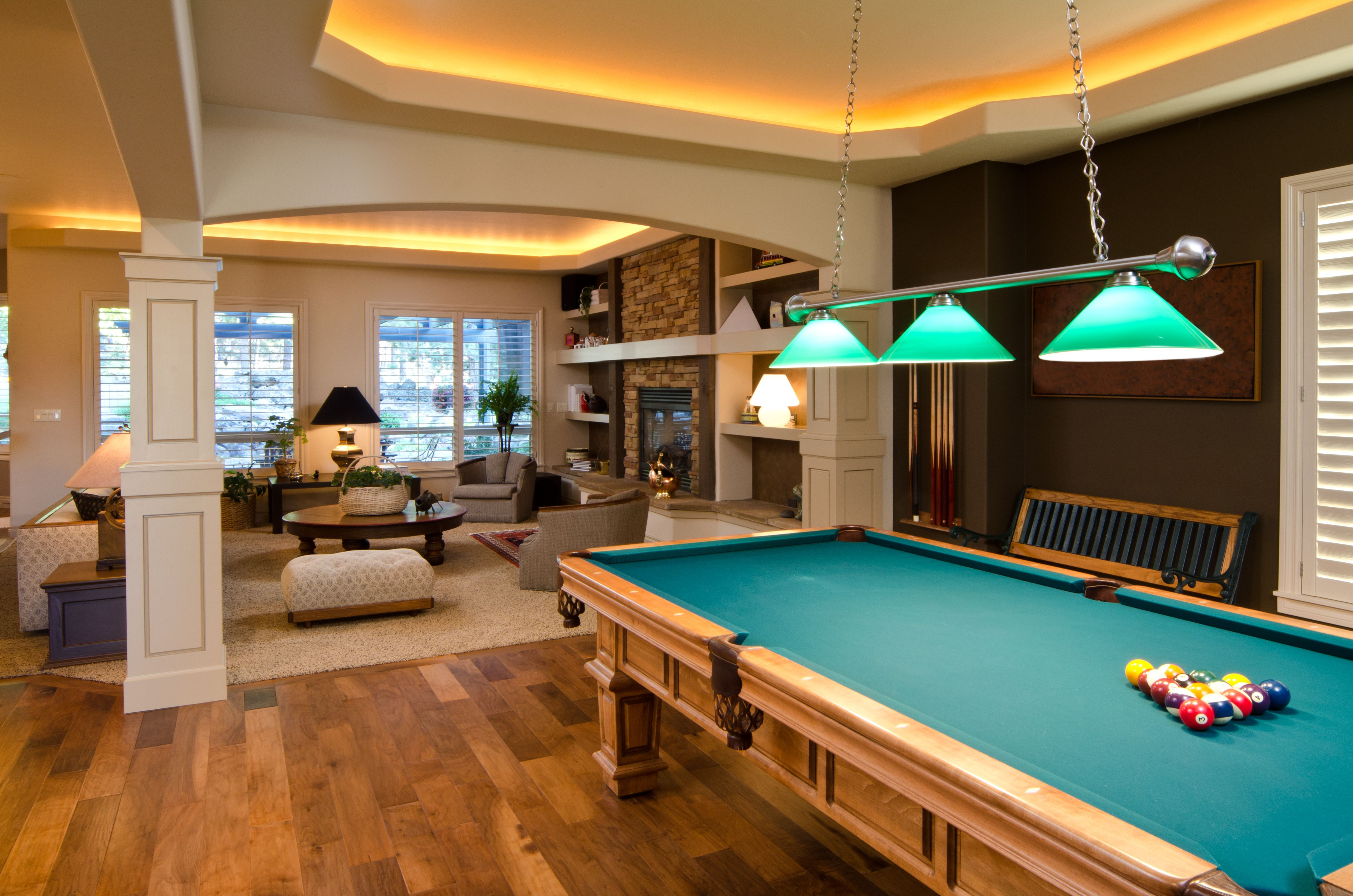 Kitchens have opened up to living sp. Pin by Total Home Solution on Basement Remodels   Pool ...