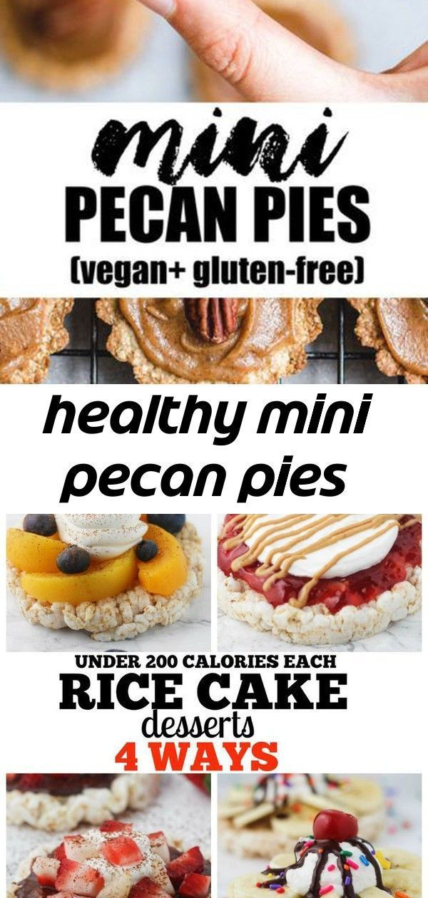 These healthy mini pecan pies are the perfect vegan and gluten-free holiday treat! 4 super quick an