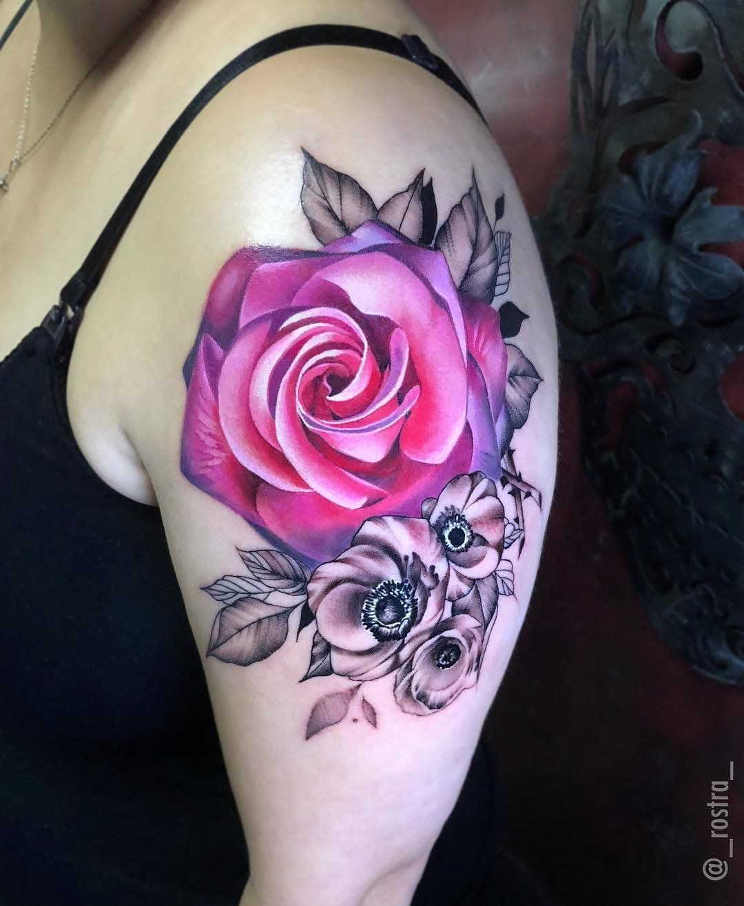 And yes, here's more pink and purple roses, because I am OBSESSED.