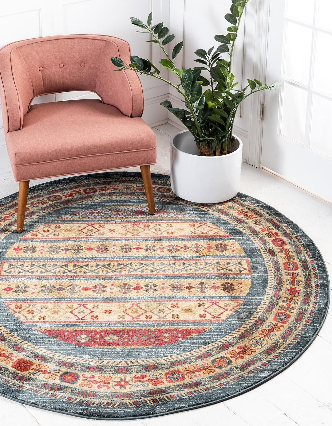 Bohemian Braided Decor Indian Jute Round Rug Home Decor Rug Rag