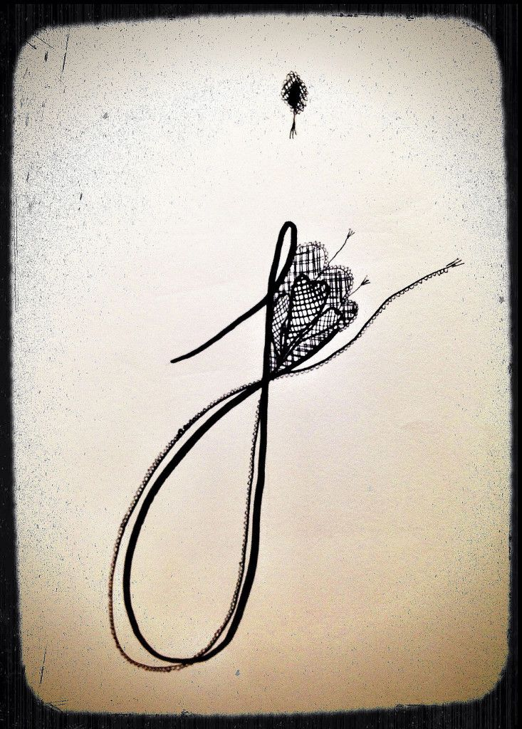 Fanciful letter 39 j 39 abstract art pinterest tattoo for Letter j tattoo