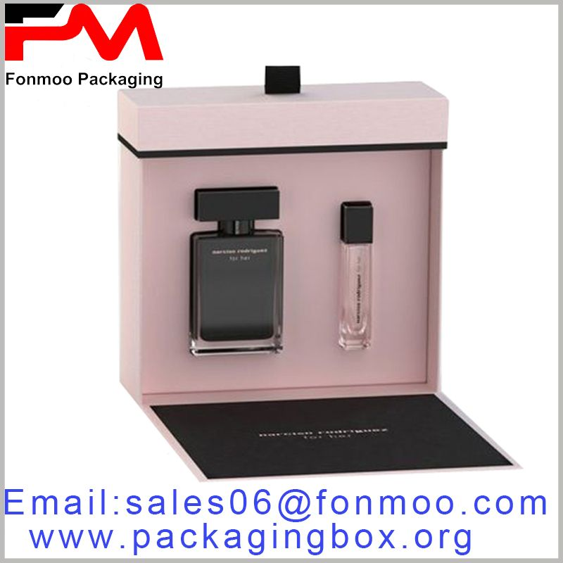 Pink Printed Perfume Cardboard Box Set 50ml And 10ml Perfume Packaging Increased Product Trial Packaging Is Conducive T Perfume Packaging Perfume Box Perfume