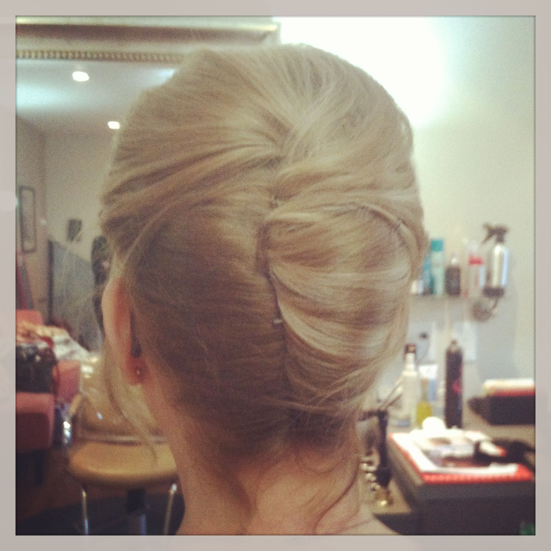 Mother of the bride hairstyles wedding hair French twist classic