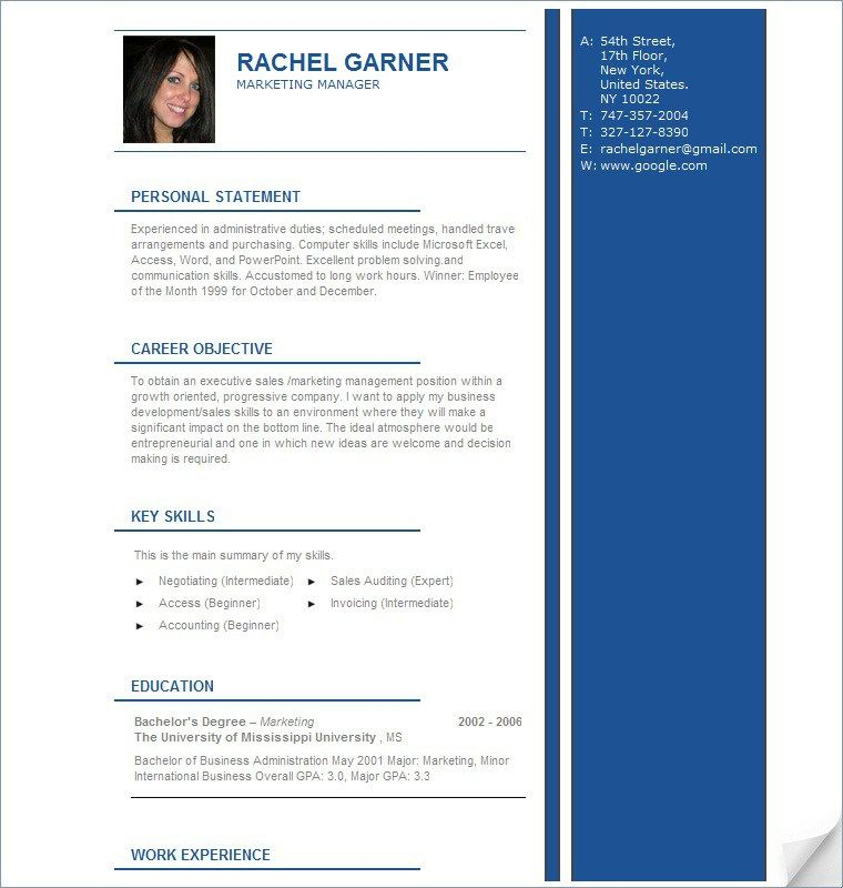 Professional Cv Resume Samples Get A Job With Professional Resume - most recent resume format
