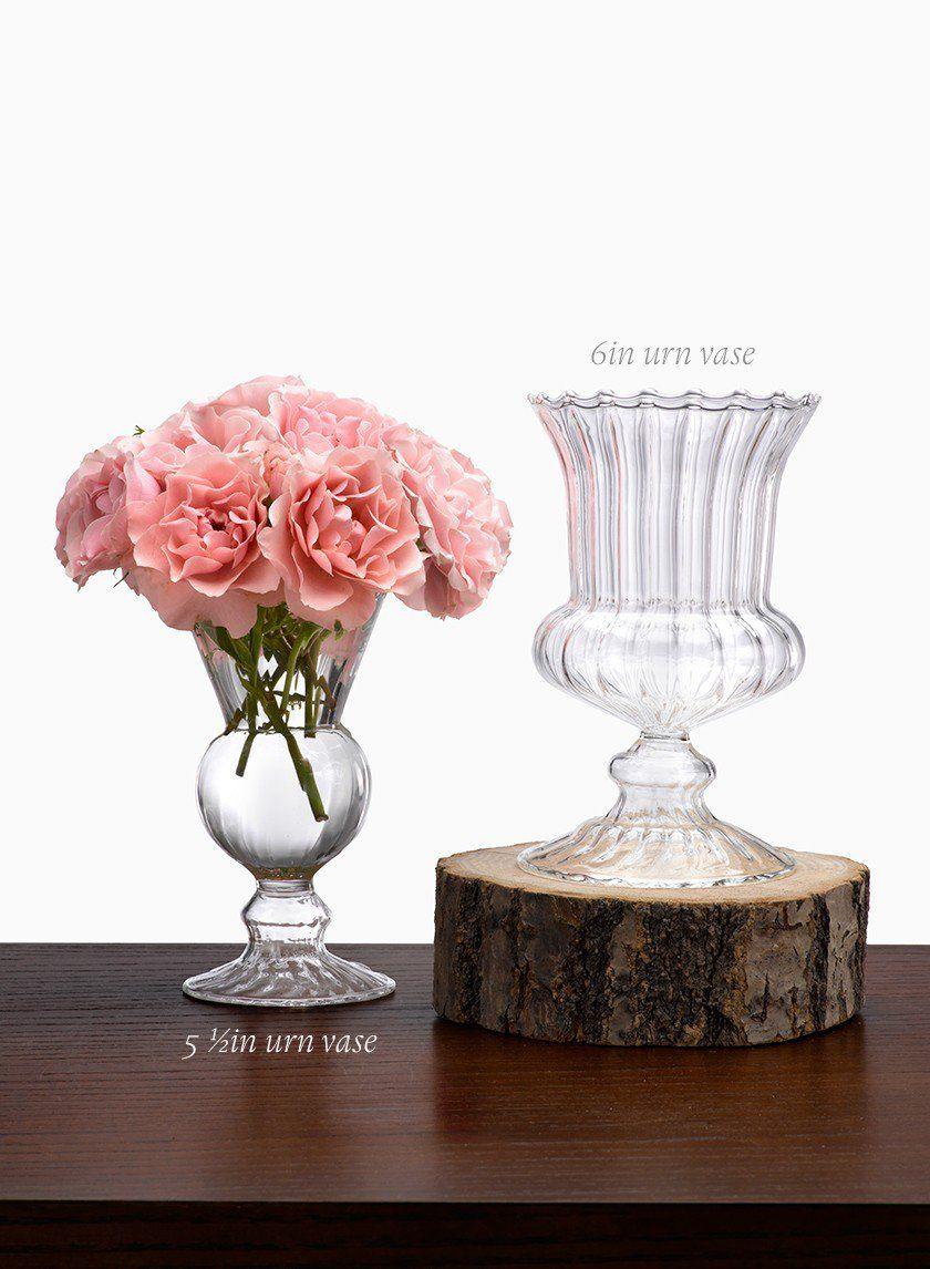 6in Optical Glass Mini Urn Vase Urn Vase Wedding Vase Centerpieces Vase