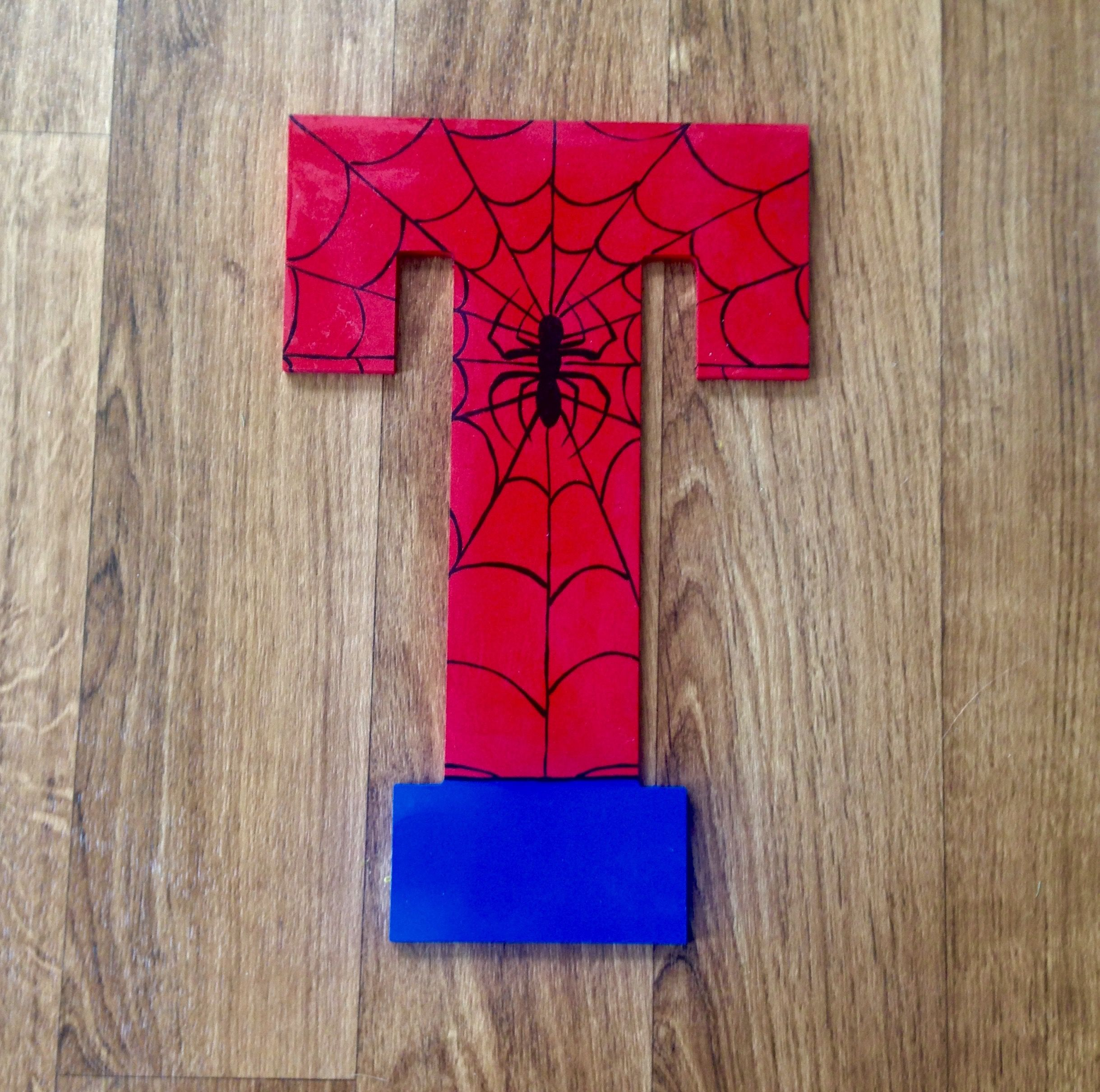 Spiderman Wall Decor spiderman wooden letters, wall decor | wooden superhero letters