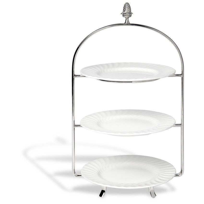 Silver-Plated 3 Tier Cake Stand | Bettys  sc 1 st  Pinterest & Silver-Plated 3 Tier Cake Stand | Bettys | Dad\u0027s Party Ideas ...