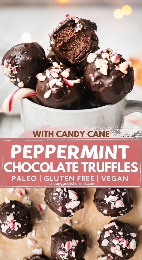 Peppermint Chocolate Truffles Paleo Vegan Shuangy S Kitchen Sink Recipe In 2020 Healthy Chocolate Recipes Paleo Recipes Dessert Gluten Free Recipes Easy Dessert