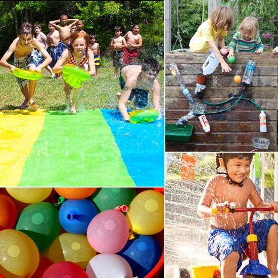 No Pool Required! 10 Fun Water Activities For Kids Summer fun