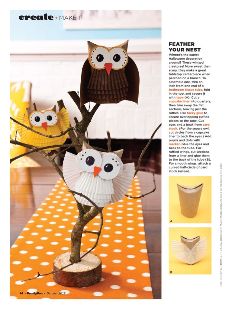 A fun owl craft that's partially recycled! #fall #craft