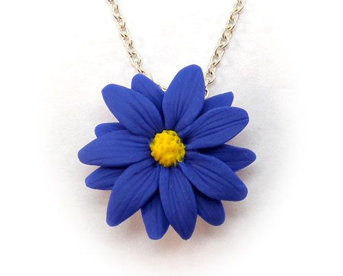 Blue Aster Necklace Blue Aster Jewelry Aster Pendant Etsy Jewelry Turquoise Art Fused Glass