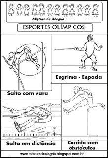 Esportes Olimpicos Para Colorir Olimpiada 2016 Atividades De