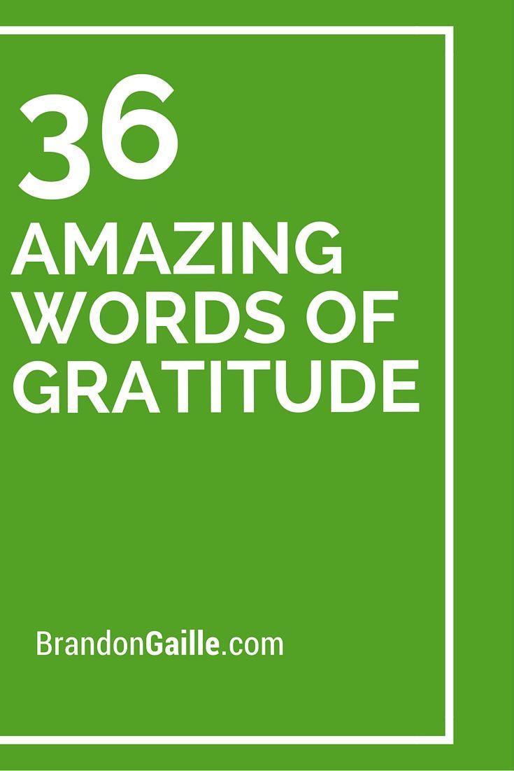 Appreciation Words