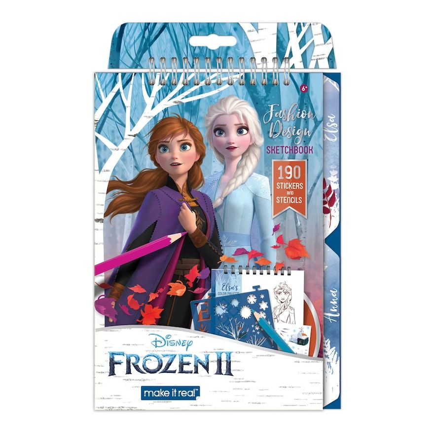 Disney S Frozen 2 Fashion Design Sketchbook By Make It Real