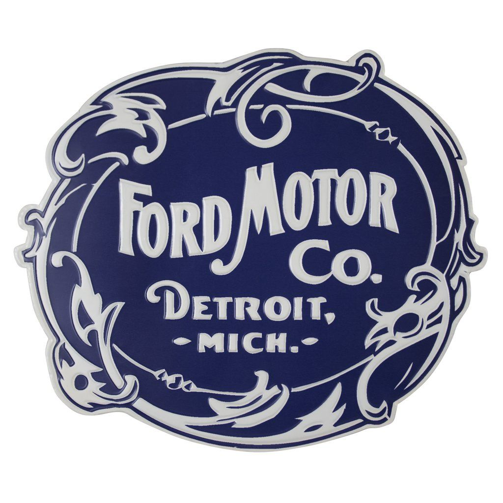 Ford Motor Co Embossed Metal Sign Motor Company Logo Ford