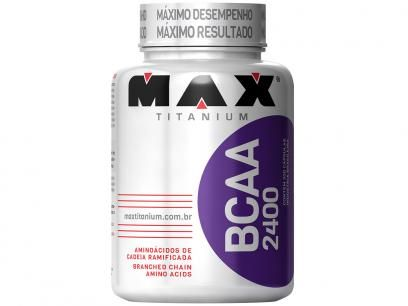 BCAA 2400- 200 Cápsulas - Max Titanium com as melhores condições você encontra no Magazine Lopesmarinho. Confira!