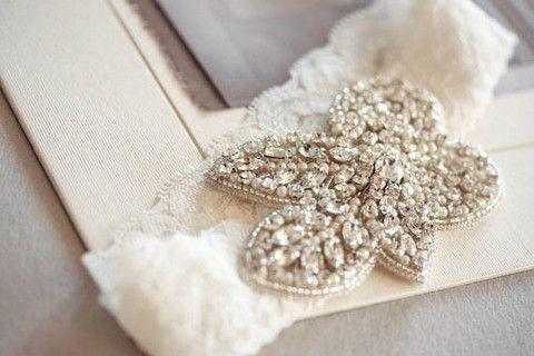 Bridal garter - Fleur ivory