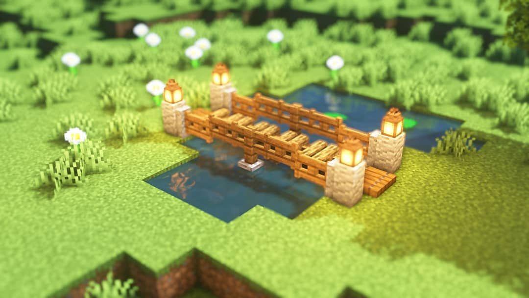 Cute Little Bridge Idea Minecraft Designs Minecraft Crafts