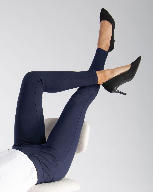 Skinny-Leg | Classic Dress Pant Yoga Pants (Navy)