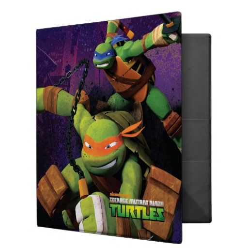 Leonardo and Michelangelo Binders will be great for back-to-school!