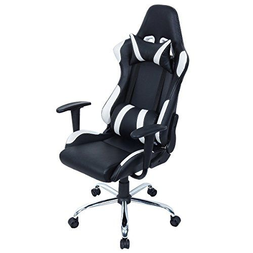 Giantex Black And White Gaming Chair Office Chair Race Computer