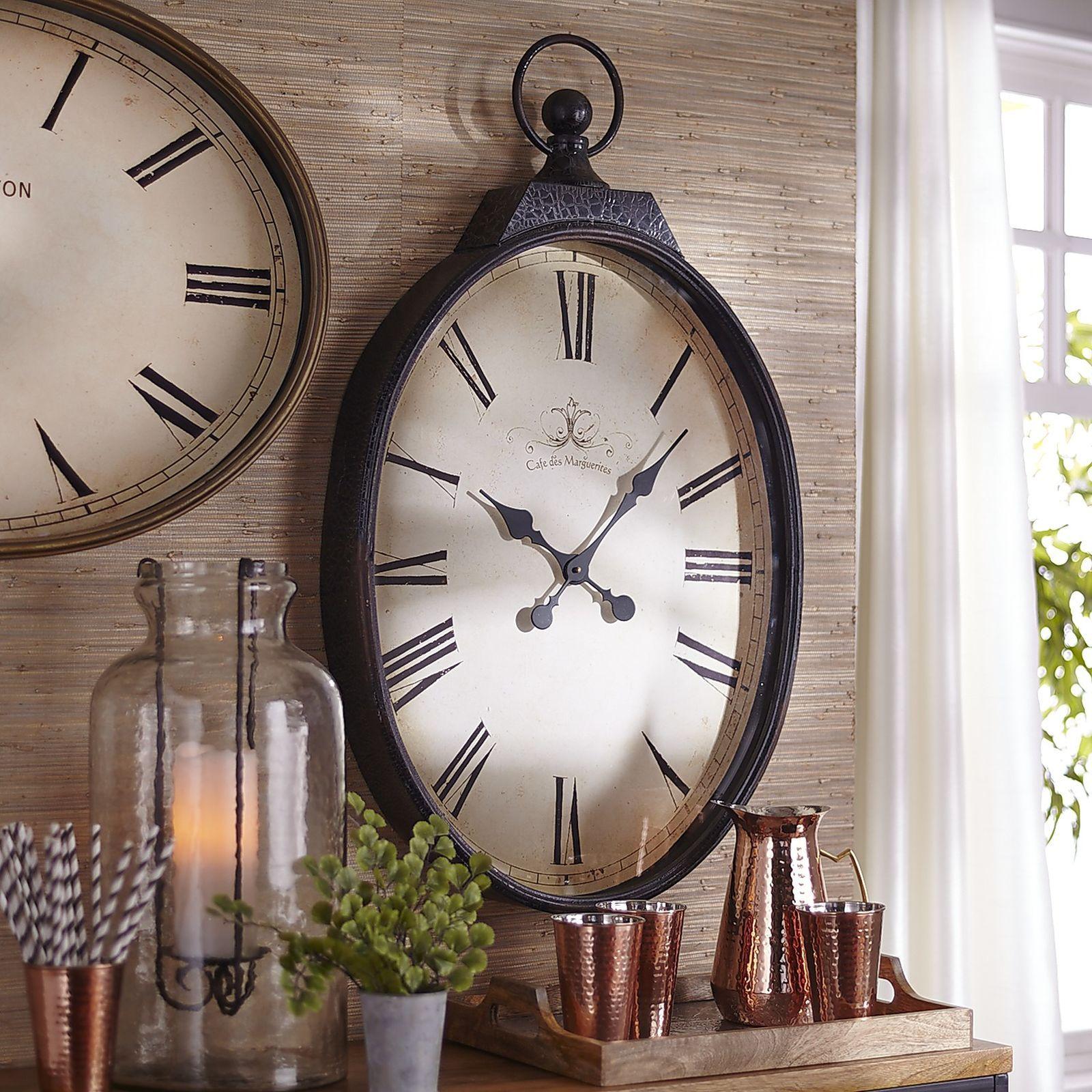 Black antiqued wall clock big wall clocks wall clock